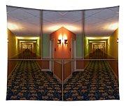 Sample Paneled Hallway Mirrored Image Tapestry