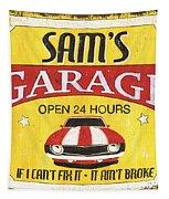 Sam's Garage Tapestry