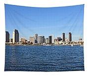 San Diego Ca Harbor Skyline Tapestry