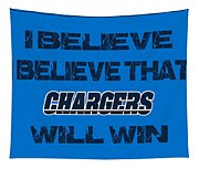 San Diego Chargers I Believe Tapestry