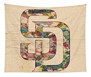 San Diego Padres Logo Vintage Tapestry