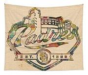 San Diego Padres Memorabilia Tapestry