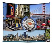 San Francisco Collage Tapestry