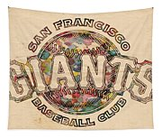 San Francisco Giants Poster Vintage Tapestry