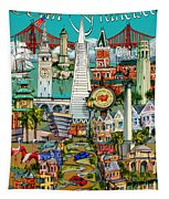 San Francisco Illustration Tapestry