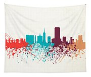 San Francisco Skyline Paint Tapestry