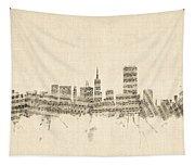 San Francisco Skyline Sheet Music Cityscape Tapestry