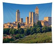 San Gimignano Skyline Tapestry