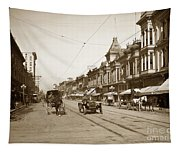94-095-0001 Early Knox Automobile First Street San Jose California Circa 1905 Tapestry