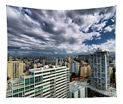 San Juan Puerto Rico Cityscape Tapestry