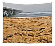 Sand On The Beach Tapestry