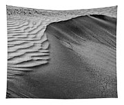 Sand Pattern Abstract - 2 - Black And White Tapestry