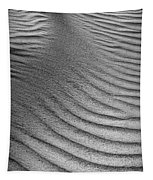 Sand Pattern Abstract - 3 - Black And White Tapestry