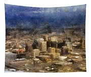 Sand Storm Approaching Phoenix Photo Art Tapestry