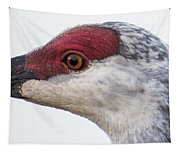 Sandhill Crane Eye Tapestry