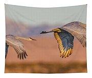 Sandhill Crane Pair Tapestry