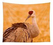 Sandhill Crane Posing Tapestry