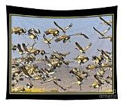 Sandhill Cranes Startled 2 Tapestry
