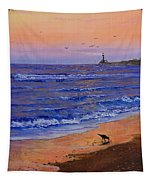 Sandpiper At Sunset Tapestry