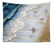 Sandpipers On The Beach Tapestry