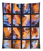 Sandstone Sunsongs Blues Photo Assemblage Tapestry