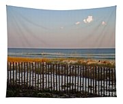 Sandy Beach And Three Tiny Clouds Tapestry