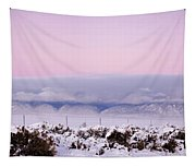Sangre De Cristo Range With Clouds Tapestry