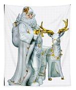 Santa And Reindeer Tapestry