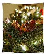 Santa And Sleigh Tapestry