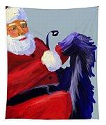 Santa Blue Tapestry