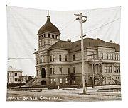 Santa Cruz High School On Walnut Street. Circa 1910 Photo By Besaw Tapestry