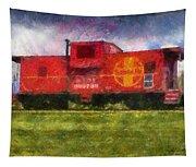 Santa Fe Caboose Photo Art 02 Tapestry