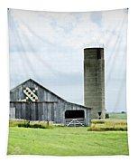 Santa Fe Wagon Tracks Quilt Barn Tapestry by Cricket Hackmann