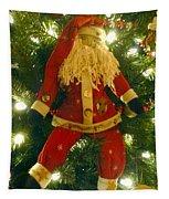 Santa Got Hung Up Tapestry