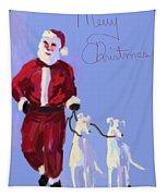 Santa Grey Tapestry