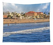 Santa Monica Beach View  Tapestry