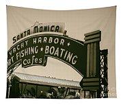 Santa Monica Pier Sign Tapestry