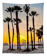 Santa Monica Palms Tapestry
