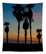 Santa Monica Sunset Tapestry
