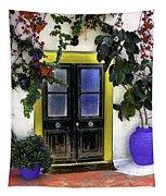 Santorini Doorway 2 Tapestry