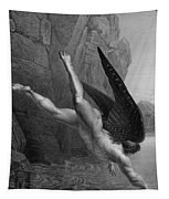 Satan Plunges Into The River Styx Tapestry