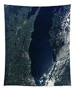 Satellite View Of Lake Michigan Tapestry