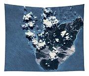 Satellite View Of Montserrat Island Tapestry