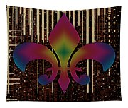 Satin Lily Symbol Digital Painting Tapestry