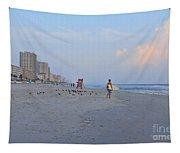 Saturday Morning Surfer Tapestry