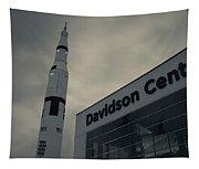 Saturn V Rocket Engine Detail, Used Tapestry