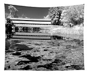 Saucks Bridge - Pond - Bw Tapestry
