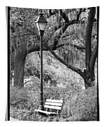 Savannah Afternoon - Black And White Tapestry