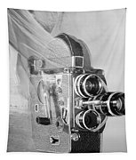 Scarf Camera In Black And White Tapestry