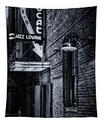 Scat Lounge In Cool Black And White Tapestry